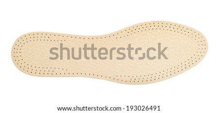shoe soles isolated on white - stock photo