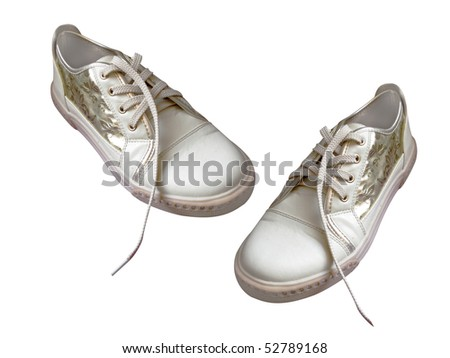 shoe under the white background