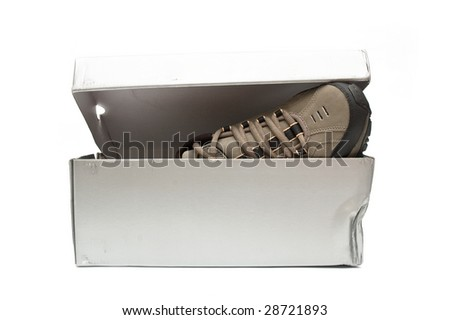 Shoebox on white background - stock photo