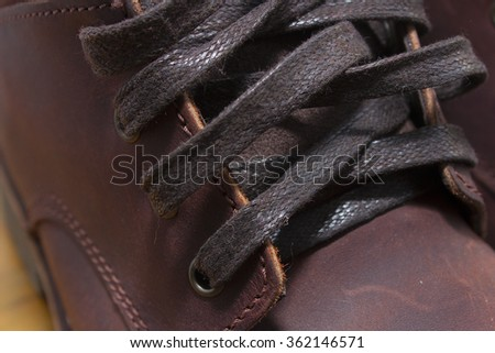 Shoelace boot Brown