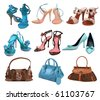 shoes and bag - stock photo