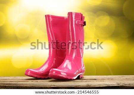 shoes and orange autumn  - stock photo