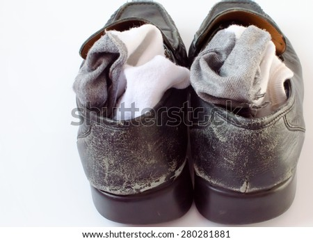 shoes and socks - stock photo