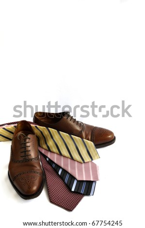 Shoes and ties - stock photo