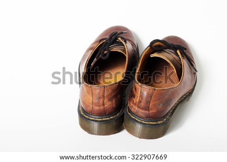 Shoes. Boots Isolated on white background - stock photo