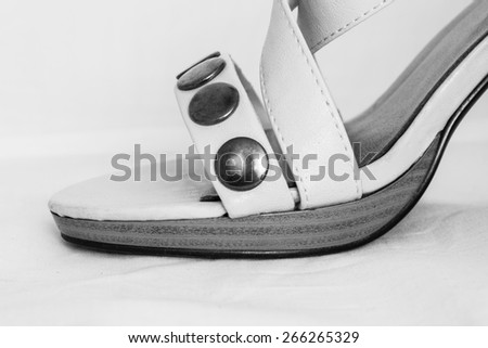 Shoes - high heels, details - stock photo