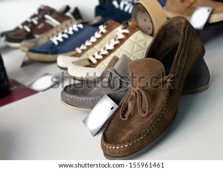 shoes in a shoe store - stock photo