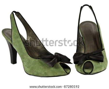 Shoes isolated on white - stock photo