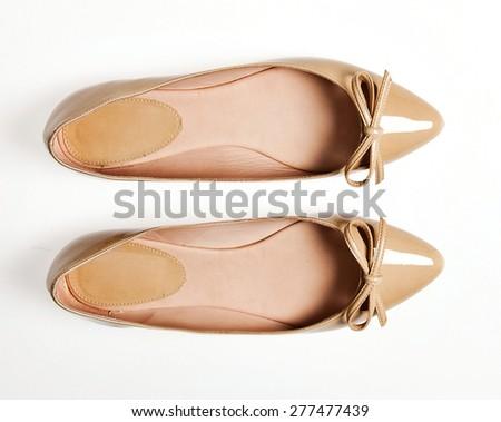 shoes isolated on white background - stock photo