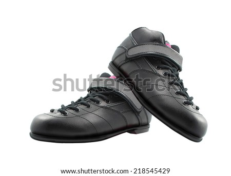 shoes made of leather - stock photo