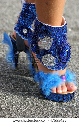 Shoes of a samba dancer - stock photo