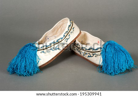 Shoes of the traditional Chinese theater - stock photo