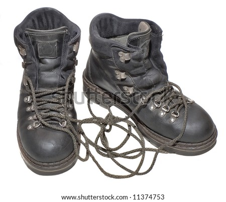 Shoes on a white background (isolate). - stock photo