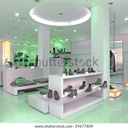 shoes store - stock photo