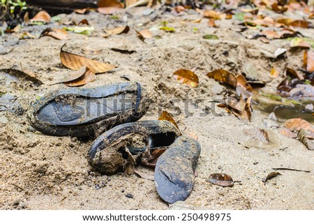 Shoes worn on sand