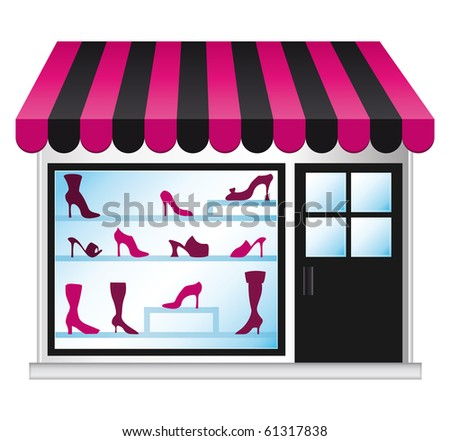 Shoeshop illustration. - stock photo