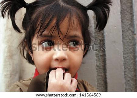 Shoot of Asian adorable girl - stock photo