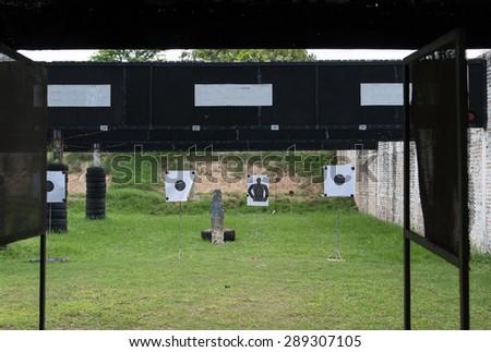 shooting gallery - stock photo