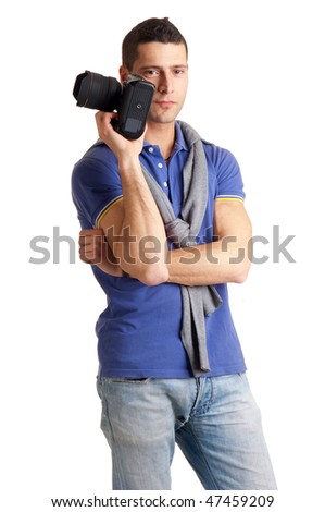 shooting photographer - stock photo