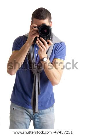 shooting photographer - stock photo