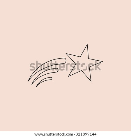 Shooting star outline icon simple flat stock illustration 321899144 shooting star outline icon simple flat stock illustration 321899144 shutterstock sciox Gallery