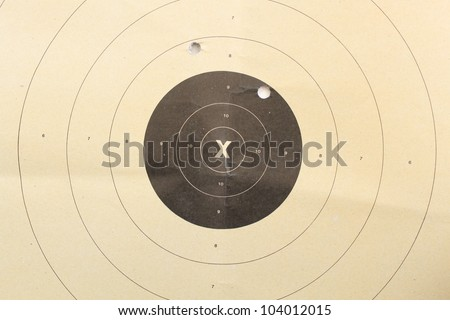 Shooting target - stock photo