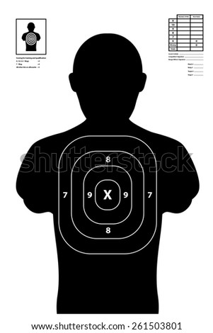 Shooting target used at shooting range illustration - stock photo