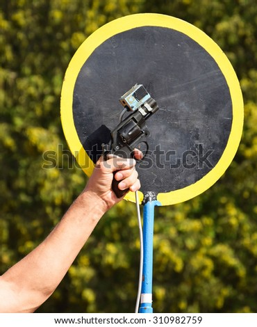 Shooting with a starting gun - stock photo