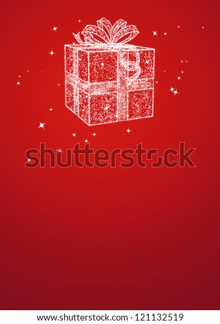 Shop christmas gifts poster background with space
