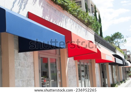 shop exterior - stock photo