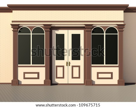Shop front - classic store front - stock photo