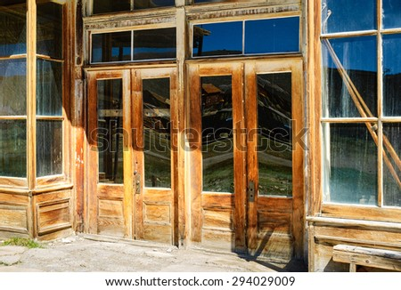 Shop Front Doors at Bodie State Historic Park