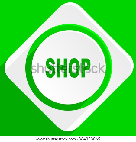 shop green flat icon