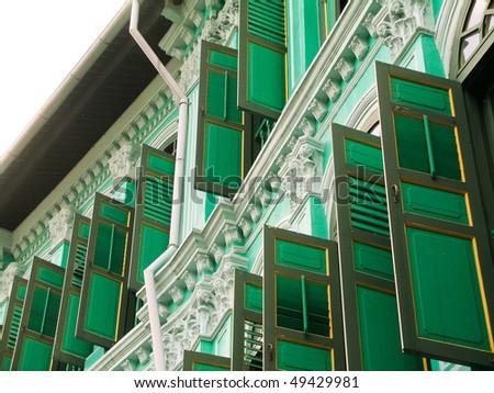 shop house in Tanjong Pagar, Singapore - stock photo