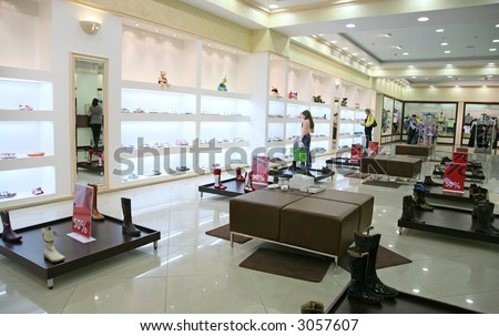 shop interior - stock photo