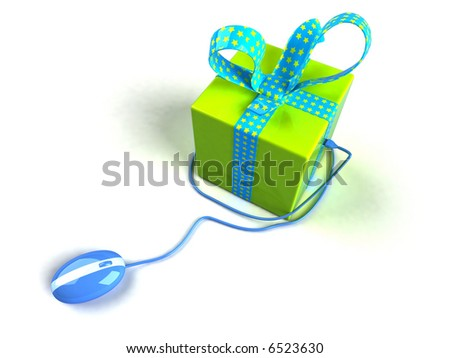 Shop on the internet - stock photo