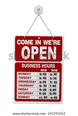 Shop open sign - stock photo