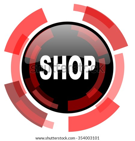 shop red modern web icon