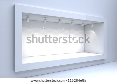 Shop window display - stock photo