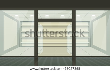 Shop with glass windows and doors front view. & Shop Glass Door Stock Images Royalty-Free Images \u0026 Vectors ... Pezcame.Com
