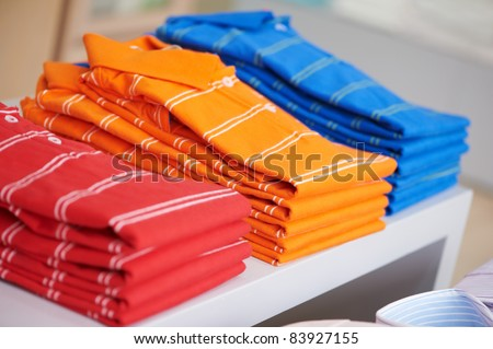 shoping sale background theme. shirts in a shop