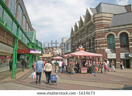 Shoppers in Liverpool England UK - stock photo