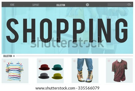 Shopping Advertising Buying Product Retail Concept - stock photo