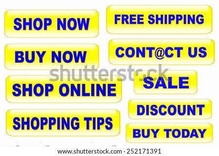 shopping and buying related button icon - stock photo