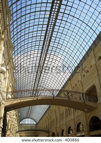 Shopping arcade with skylight