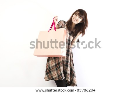 Shopping asian woman