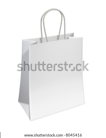 Shopping Bag (3D rendered illustration)