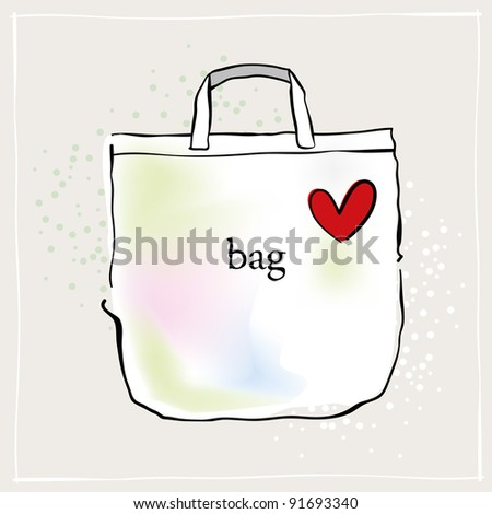 Shopping Bag Illustration - stock photo