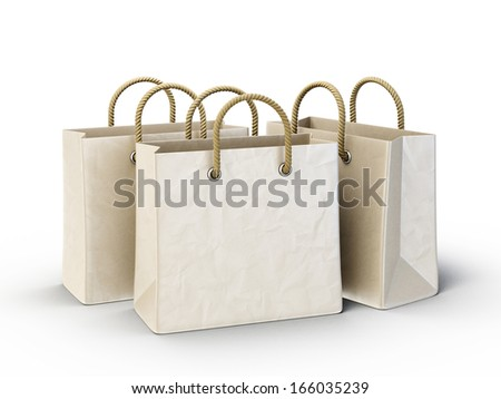 shopping bag isolated on a white background
