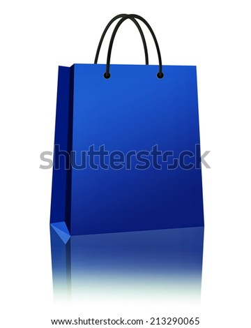 Shopping Bag Isolated on a white background - stock photo